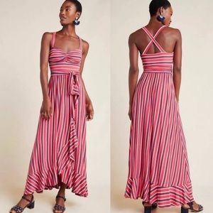 NWT Anthropologie Gabriela Ruffled Maxi Dress